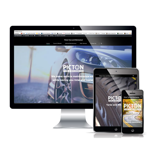 website examples for picton tyres