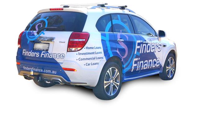 finders finance car signage