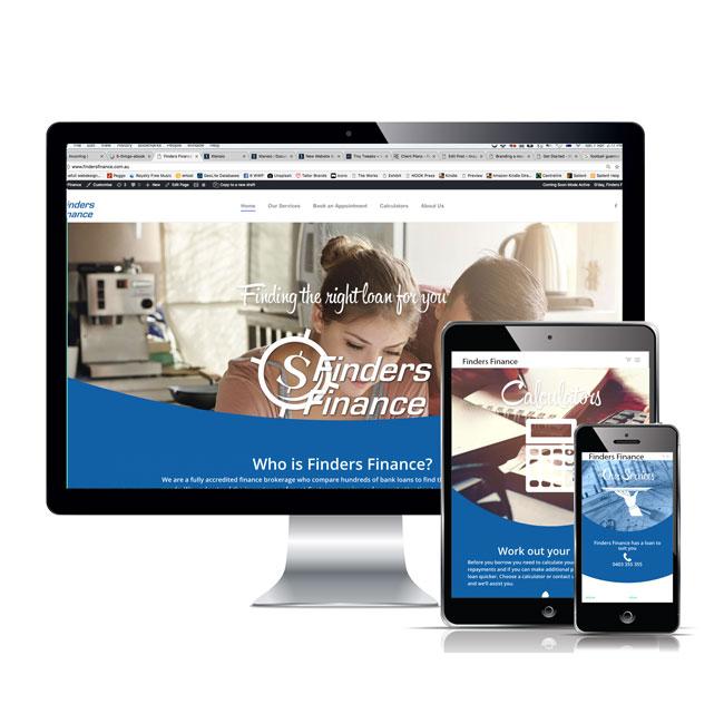 finders finance website screen shots